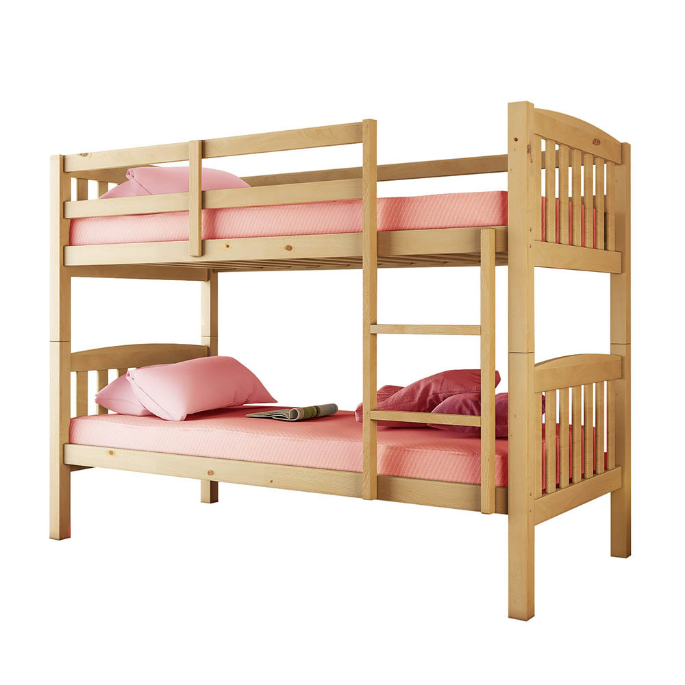 Dante 2 In 1 Solid Pine Timber Bunk Bed Natural Buy Bunk Beds