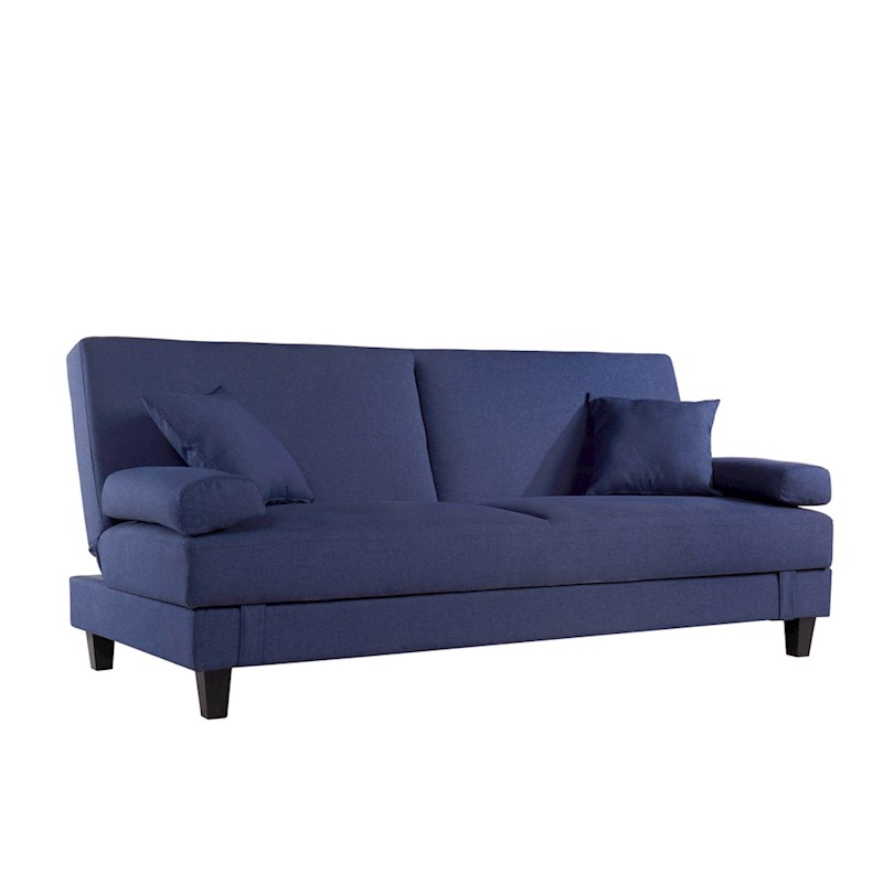 Sala 3 Seater Sofa Bed With Storage Blue Buy Sofa Beds