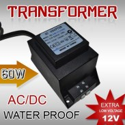 Ac Waterproof Transformer 12V 60 Watt