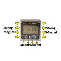 Digital Inclinometer With Magnets x3