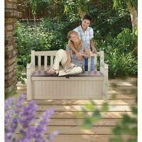 Keter Eden Outdoor Garden Storage Box Bench Seat