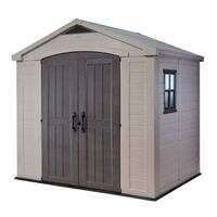 Keter Factor Outdoor Storage Garden Shed 8x6 ft