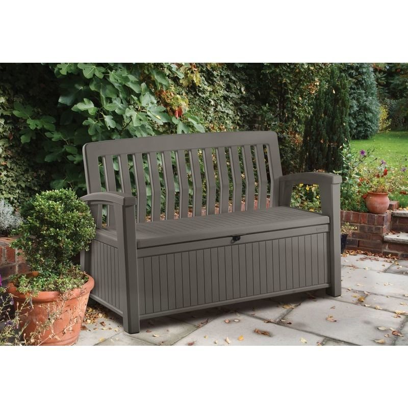 Keter 2 Seater Outdoor Storage Box Bench 3 Colours Buy