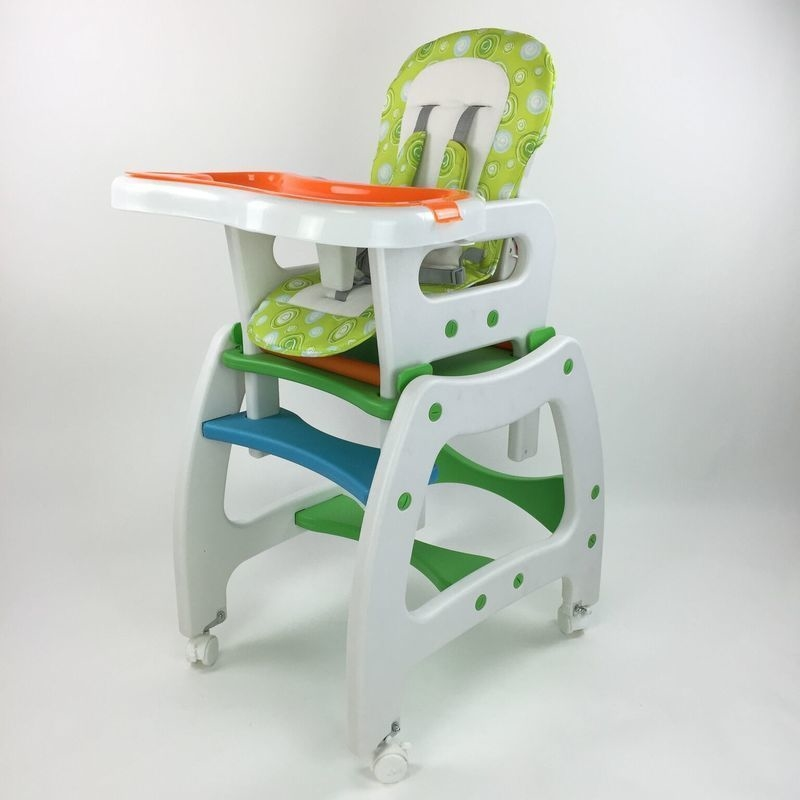 4 In 1 Adjustable Baby Dining High Chair Set Green Buy