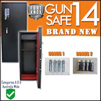 Gun Safe - 14 Heavy Duty Firearm  Storage Lock Box