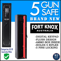 Gun Safe - 5 Heavy Duty Firearm Storage Lock Box