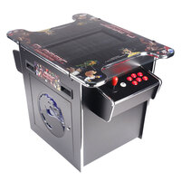 2 Player Tabletop Arcade Machine with 2 Red Stools
