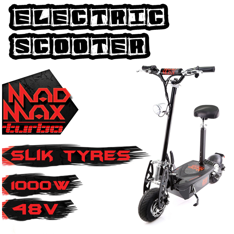 Electric Scooter Motor All Track Terrain On Road Electrical 1000w 48v Turbo  Slick Tyres