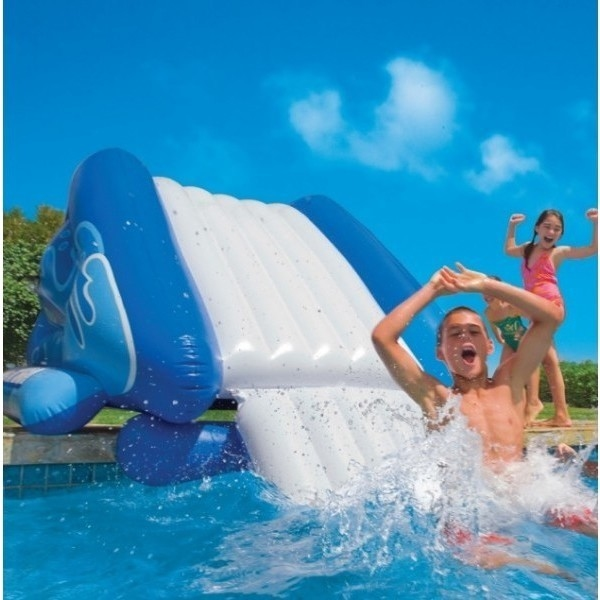 Intex giant inflatable pool water slide w pump buy pools spa 188125 for Intex swimming pools australia