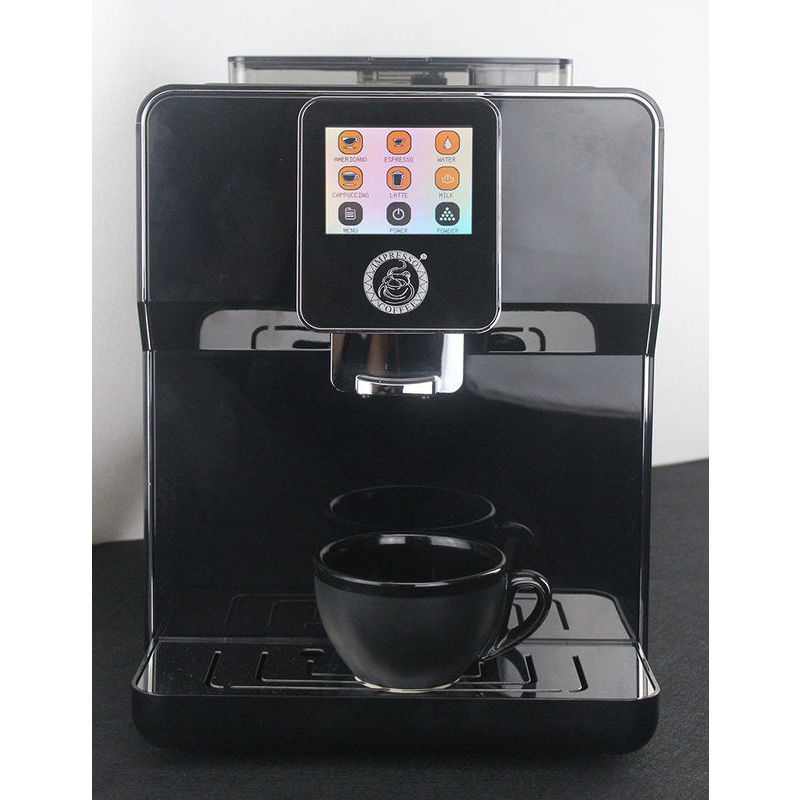 Touch Screen Espresso Machine Amp Milk Frother Black Buy