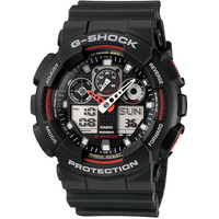 Casio G-Shock Black & Red Men's Watch GA-100-1A4