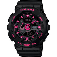 Casio Baby-G Female Watch BA-111-1A Black Pink