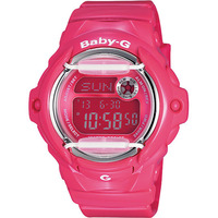 Casio Baby-G Shock Resistant Womens Watch Full Pink