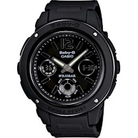 Casio Baby-G All Black Resin Ladies Watch
