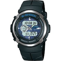 Casio G-Shock Mens Watch Black and Blue G-300-2AVDR