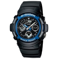 Casio G-Shock Black and Blue Men's Watch AW-591-2AD