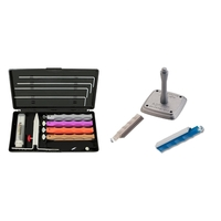Diamond Knife Sharpener Kit w/ S+Sa Hones & U-Mount
