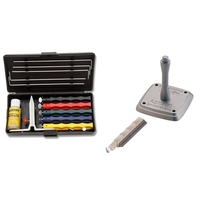 Deluxe Knife Sharpener Kit w/ Serrated Hone & Mount