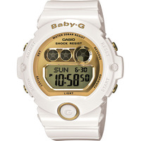 Casio Baby-G Digital White Female Ladies Watch