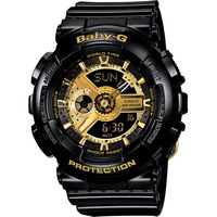 Casio Baby-G GA-110 Women's Watch in Black & Gold