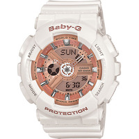 Casio Baby-G Women's Watch in White BA-110-7A1