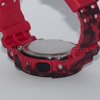 Casio G-Shock Men's LED Watch in Camouflage & Red