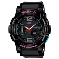 Casio Baby-G Women's Watch in Black BGA-180-1BDR