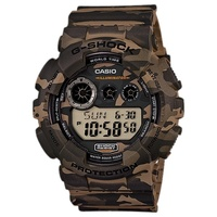 Casio G-Shock Men's Watch Camouflage Brown Display
