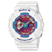 Casio Baby-G BA-112-7ADR Women's LED Watch in White