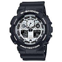 Casio G-Shock GA-100BW-1A Men's LED Watch in Black