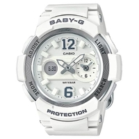 Casio Baby-G BGA-210-7B2 Women's LED Watch in White