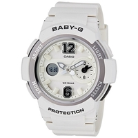 Casio Baby-G Women's Watch White Grey BGA-210-7B1