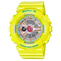 Casio Baby-G Women's Watch in Yellow BA-110CA-9A