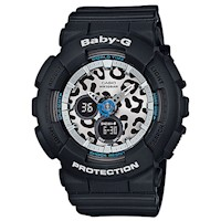 Casio Baby-G Leopard Series Women's Watch in Black