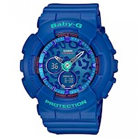 Casio Baby-G BA-120 Women's LED Watch Leopard Blue