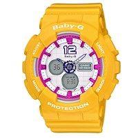 Casio Baby-G BA110DC-2A7 Women's LED Watch Yellow