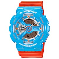 Casio G-Shock Men's Watch in Orange Blue GA110NC-2A