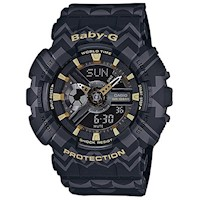 Casio Baby-G Women's Watch in Tribal Black / Gold