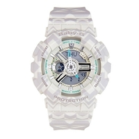 Casio Baby-G Women's LED Watch in Cream & Tribal