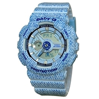 Casio Baby-G Women's Watch - Blue Denim BA110DC-2A3