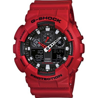 Casio G-Shock Men's LED Digital Analogue Watch Red