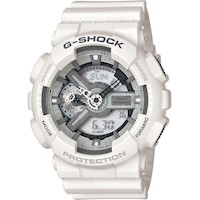 Casio G-Shock Mens LED Digital Analogue Watch White