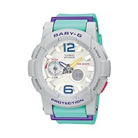 Casio Baby-G Women's LED Ana-Digi Watch Grey & Blue