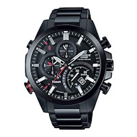 Casio Edifice Analogue Solar Mens Smart Watch Black
