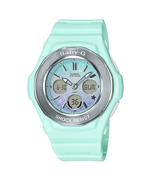 e4a9083153 Casio Baby-G Green Starry Sky Ana/Digi Girls Watch BGA100ST-3A  BGA-100ST-3ADR
