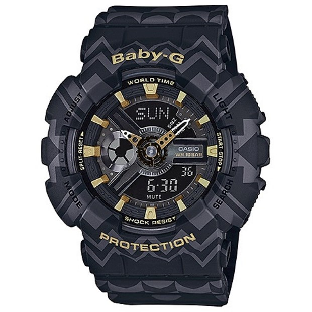 e06e21890f Casio Baby-G Tribal Pattern Limited Black/Gold Ana/Digital Watch BA-110TP-1A