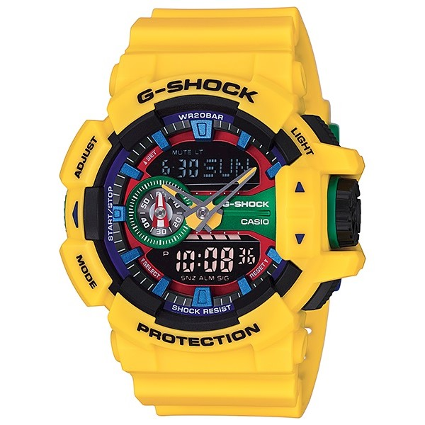 7c3874ac086 h m s Remaining. Casio G-Shock Analogue Digital Mens Yellow Hyper Colours Series  Watch ...