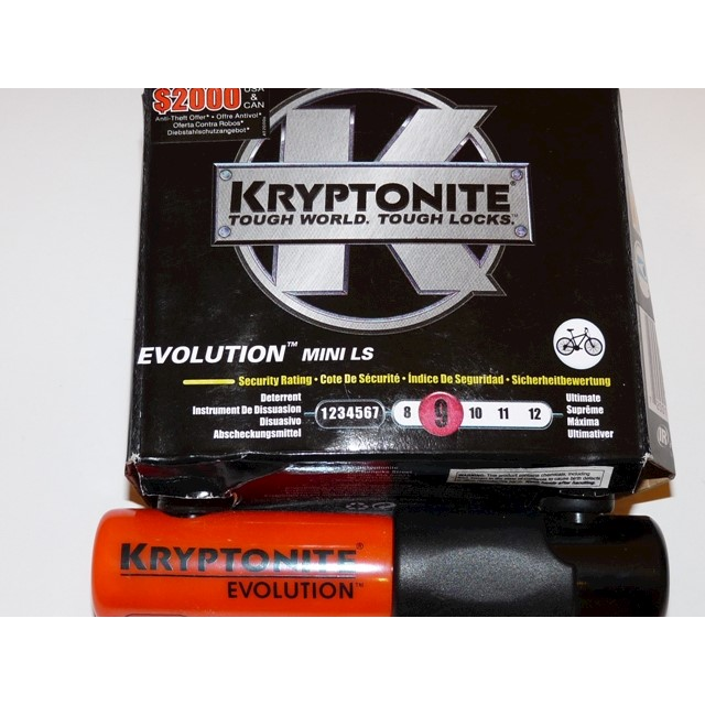 Kryptonite Evolution Mini L/S Bike Bicycle U-Lock Lock