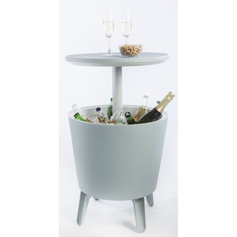 Keter Cool Bar Ice Box Outdoor Table In Blue Amp Grey Buy