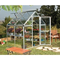 Maze 6' x 4' Clear Polycarbonate Greenhouse